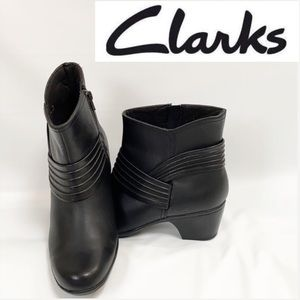 Clarks Ingalls Mood Black Ankle Boot Booties